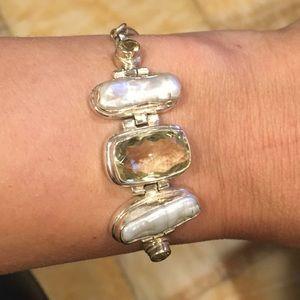 Handmade blown glass bracelet